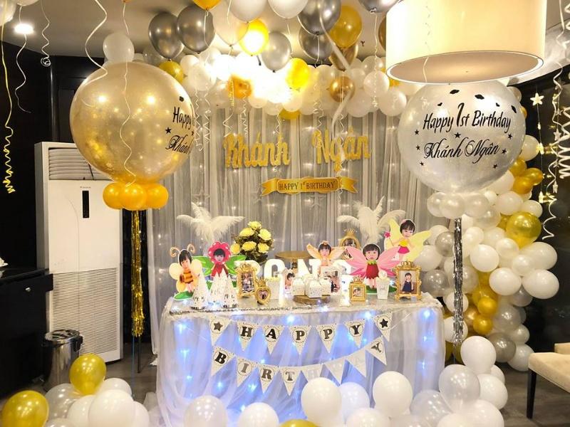 Trang trí không gian tổ chức sinh nhật tại nhà